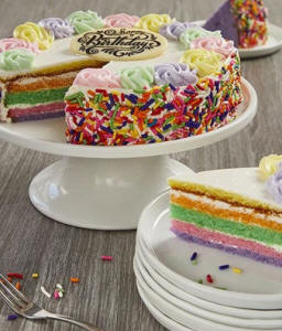 Rainbow Birthday Cake - Home Delivered